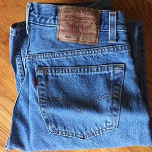Vintage Levi's 501 button-fly jeans